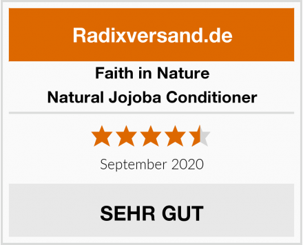 Faith in Nature Natural Jojoba Conditioner Test