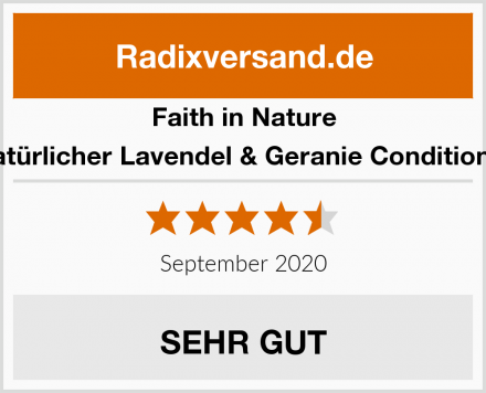 Faith in Nature Natürlicher Lavendel & Geranie Conditioner Test