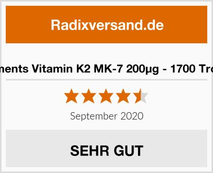 natural elements Vitamin K2 MK-7 200µg - 1700 Tropfen (50ml) Test