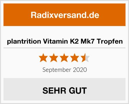 plantrition Vitamin K2 Mk7 Tropfen Test