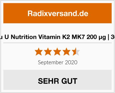 Nu U Nutrition Vitamin K2 MK7 200 µg | 365 Test