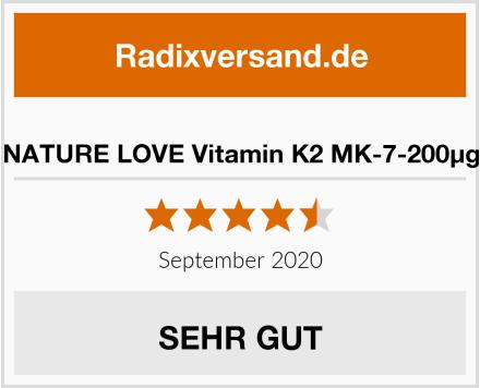 NATURE LOVE Vitamin K2 MK-7-200µg Test