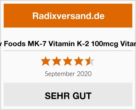 Now Foods MK-7 Vitamin K-2 100mcg Vitamine Test