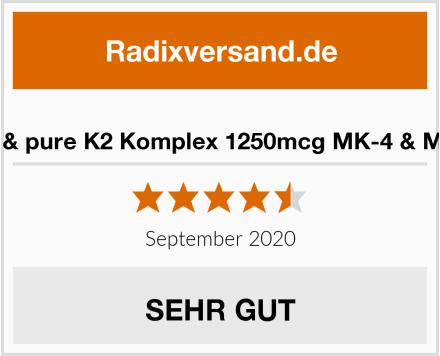 fair & pure K2 Komplex 1250mcg MK-4 & MK-7 Test