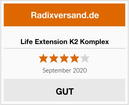 Life Extension K2 Komplex Test