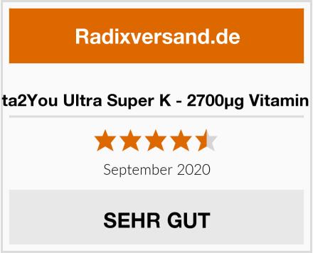 Vita2You Ultra Super K - 2700µg Vitamin K Test