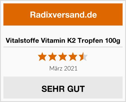 Vitalstoffe Vitamin K2 Tropfen 100g Test