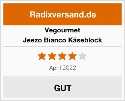 Vegourmet Jeezo Bianco Käseblock Test