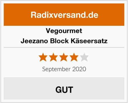 Vegourmet Jeezano Block Käseersatz Test