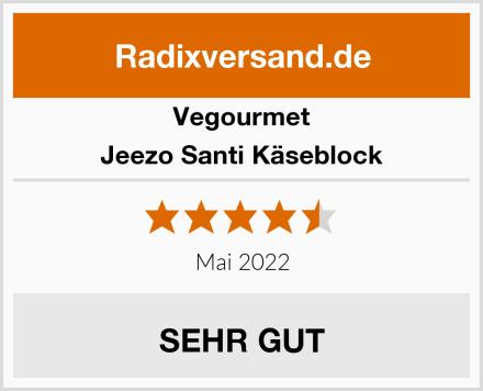 Vegourmet Jeezo Santi Käseblock Test