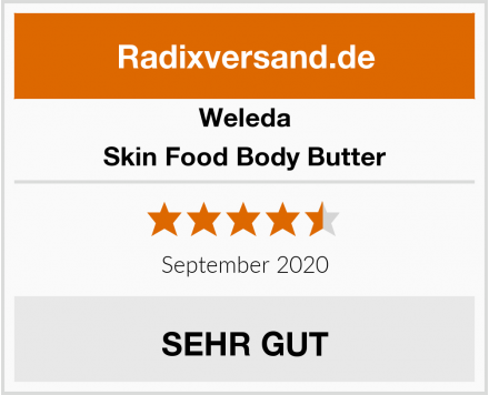 Weleda Skin Food Body Butter Test