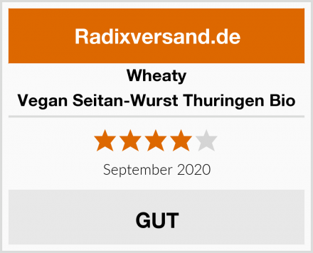 Wheaty Vegan Seitan-Wurst Thuringen Bio Test