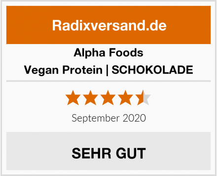 Alpha Foods Vegan Protein | SCHOKOLADE Test