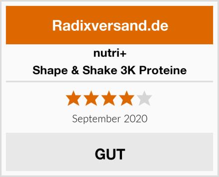 Nutri+ Shape & Shake 3K Proteine Test