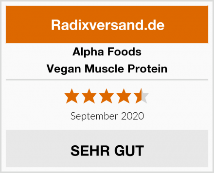 Alpha Foods Vegan Muscle Protein Test