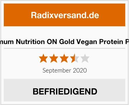Optimum Nutrition ON Gold Vegan Protein Pulver Test