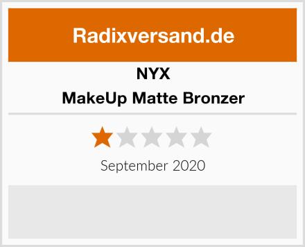 NYX MakeUp Matte Bronzer Test