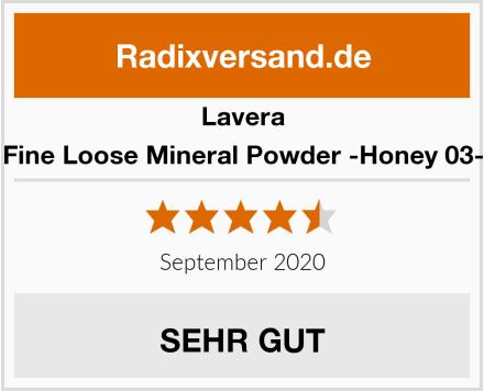 Lavera Fine Loose Mineral Powder -Honey 03- Test