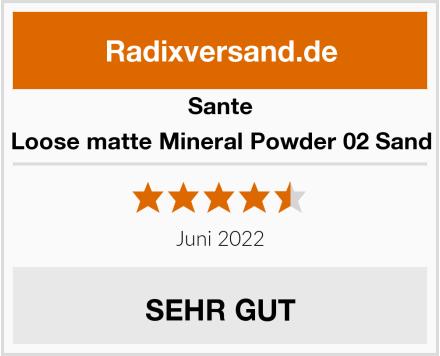 Sante Loose matte Mineral Powder 02 Sand Test