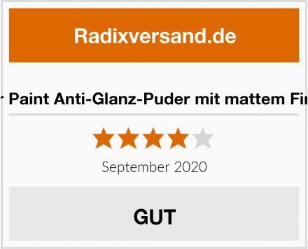 War Paint Anti-Glanz-Puder mit mattem Finish Test