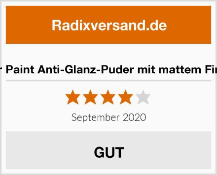 War Paint Anti-Glanz-Puder mit mattem Finish Test