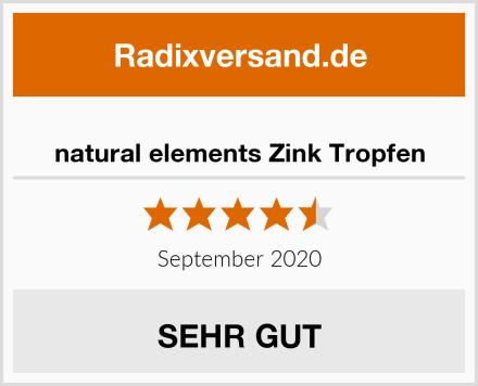 natural elements Zink Tropfen Test