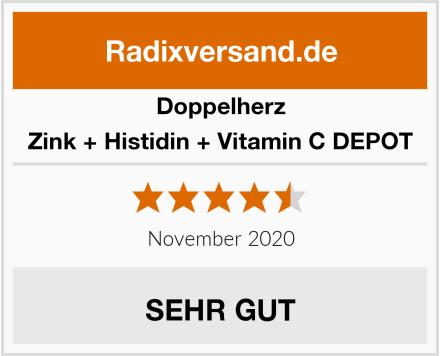 Doppelherz Zink + Histidin + Vitamin C DEPOT Test