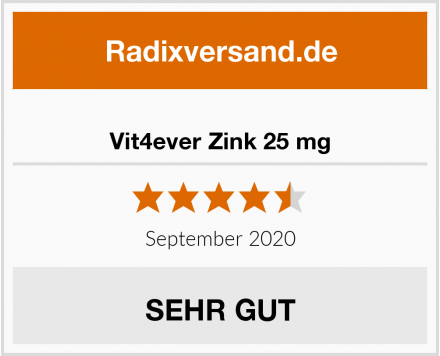 Vit4ever Zink 25 mg Test
