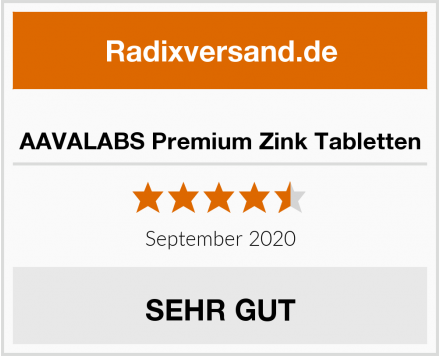 AAVALABS Premium Zink Tabletten Test