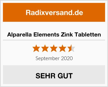 Alparella Elements Zink Tabletten Test
