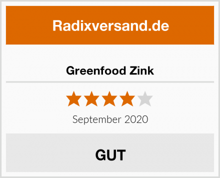Greenfood Zink Test