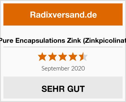 Pure Encapsulations Zink (Zinkpicolinat) Test