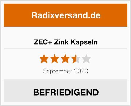 ZEC+ Zink Kapseln Test