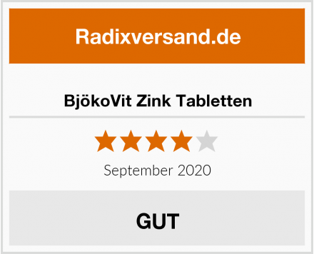BjökoVit Zink Tabletten Test