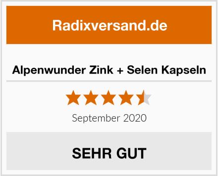 Alpenwunder Zink + Selen Kapseln Test
