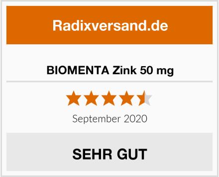 BIOMENTA Zink 50 mg Test
