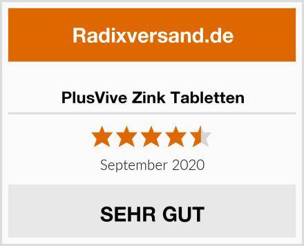 PlusVive Zink Tabletten Test