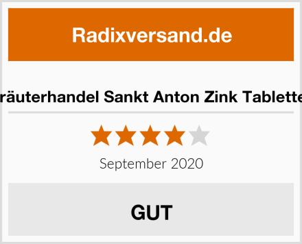 Kräuterhandel Sankt Anton Zink Tabletten Test
