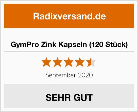 GymPro Zink Kapseln (120 Stück) Test