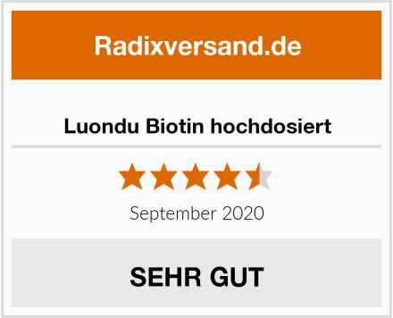Luondu Biotin hochdosiert Test