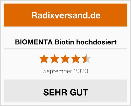 BIOMENTA Biotin hochdosiert Test