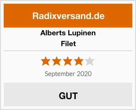 Alberts Lupinen Filet Test
