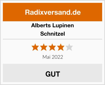 Alberts Lupinen Schnitzel Test