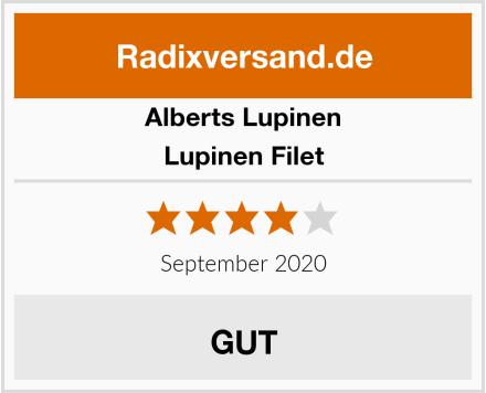 Alberts Lupinen Lupinen Filet Test