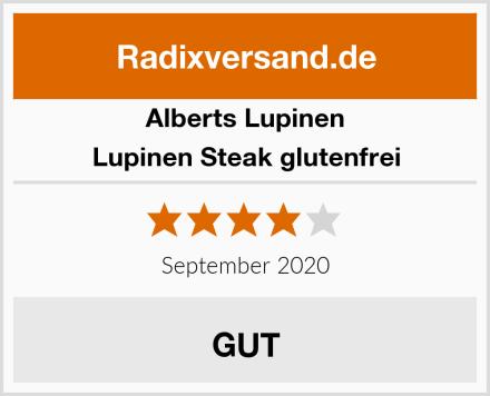 Alberts Lupinen Lupinen Steak glutenfrei Test