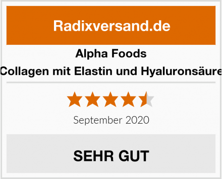 Alpha Foods Collagen mit Elastin und Hyaluronsäure Test