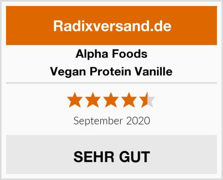 Alpha Foods Vegan Protein Vanille Test