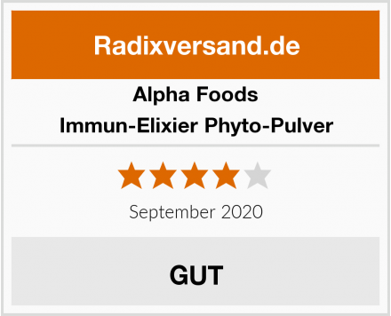Alpha Foods Immun-Elixier Phyto-Pulver Test