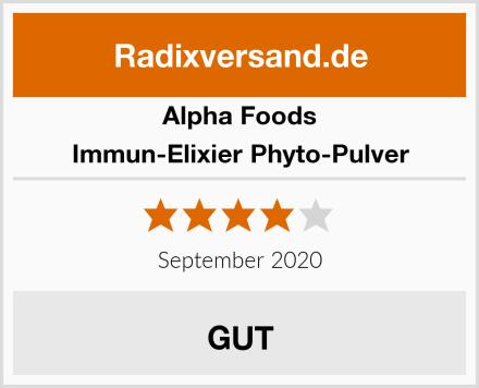 Alpha Foods Immun-Elixier Phyto-Pulver Test