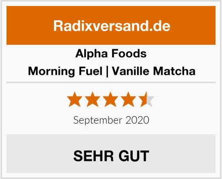 Alpha Foods Morning Fuel | Vanille Matcha Test